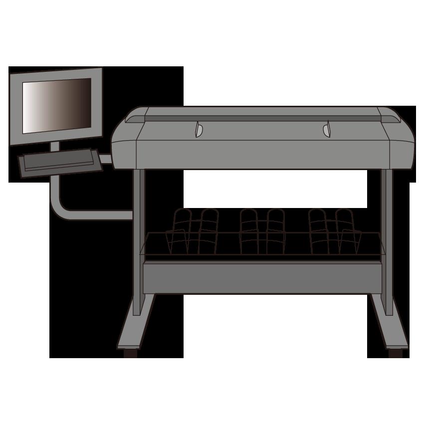 HP Designjet 4500スキャナ